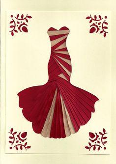 Cinta Iris doble tarjeta vestido de rojo y por FourSistersShop