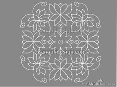 Beautiful Dotted Lotus Rangoli Design by sumitha Indian Rangoli Designs, Rangoli Designs Flower, Rangoli Border Designs, Rangoli Designs With Dots, Rangoli With Dots, Beautiful Rangoli Designs, Kolam Designs, Simple Rangoli, Chalkboard Decor