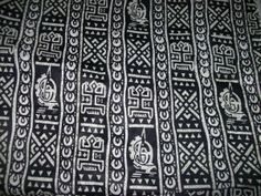 Black and White Dogon Print African Fabric