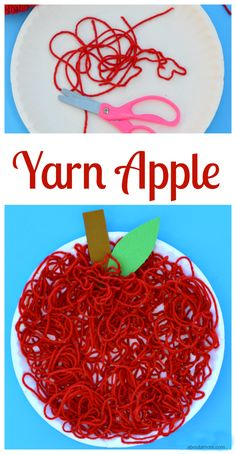 Yarn Apple Craft for