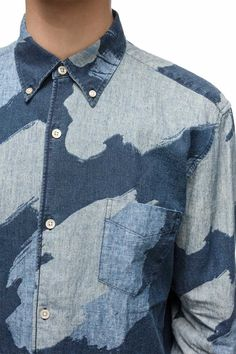 Our Legacy - 1950's Shirt painted camo