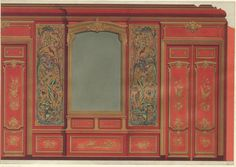https://flic.kr/p/9VYkg9 | interieur louis xV | lithograph  design panelled wall in chinese stile