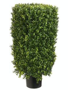Artificial Trees, Artificial Palm Trees, Artificial Plants, Faux Flowers - EF-232 30 Plastic Boxwood Topiary 12 Wide 22 Tall Boxwood Foliage Indoor/Outdoor