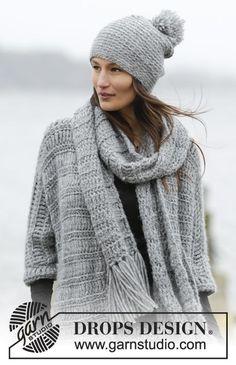 Loch Ness Hat And Scarf Set By DROPS Design - Free Crochet Pattern - (garnstudio) ༺✿ƬⱤღ✿༻