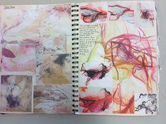 A level art sketchbook, textiles sketchbook, sketchbook project, artist . Art Painting, Gcse Art Sketchbook, Drawing Videos, Art Drawings, Drawings, Art Videos, Visual Art, Art, Art Journal