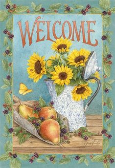 Jane Shasky sunflowers WELCOME
