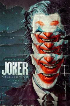 Joker 2019 Movie Poster Put A Happy Face DC Comics Joaquin image 1 Joker Poster, Movie Poster Art, Poster Design Movie, Fan Poster, Best Movie Posters, Poster Designs, Joaquin Phoenix, Art Du Joker, Der Joker