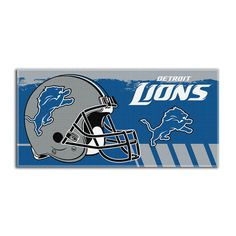Detroit Lions NFL Fiber Reactive Beach Towel (Gameplan Series) (28in x 58in)