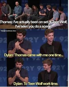 Dylan: Thomas came.(pause) Thomas looking at him like 'What are you talking about right now? Newt Maze Runner, Maze Runner Funny, Maze Runner Thomas, Maze Runner Movie, Teen Wolf, Maze Runner Trilogy, Maze Runner Series, Sterek, Dylan O'brien