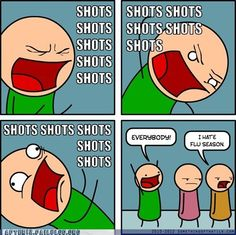 Funny pictures about Totally doing this on the way to the Flu clinic. Oh, and cool pics about Totally doing this on the way to the Flu clinic. Also, Totally doing this on the way to the Flu clinic. Lol, Just For Laughs, Just For You, Shots Shots Shots, Shots Meme, Baby Shots, Medical Jokes, Jm Barrie, Pharmacy Humor