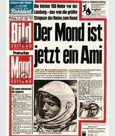 Der Mond ist jetzt ein Ami | Schlagzeile in der Deutschen Bildungs Zeitung ~ Die ganze Welt für 15 Pfennig
