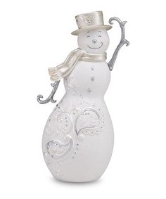 Take a look at this Pavilion Tipping Hat Snowman Figurine by Festive Holiday on #zulily today!