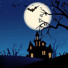 Halloween Moon, Halloween Scene, Halloween Cartoons, Halloween Painting, Halloween House, Cute Halloween, Ipad Air 2 Wallpaper, Hd Wallpaper, Grim Reaper Art