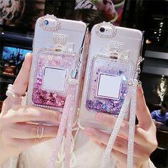 Liquid Glitter Sand Perfume Bottle Silicone Phone Case Cover