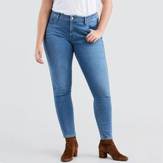 Jean 310 Levi's Plus Shaping Super Skinny - Taille : Levis, Chelsea, Leggings, Jeans Skinny, Super Skinny, Pants, Fashion, Navy Blue, Trendy Outfits