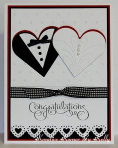 red white black wedding