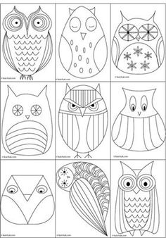 Owls that someone draw