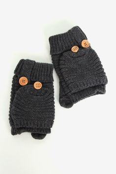 Harper Mittens in Charcoal $16