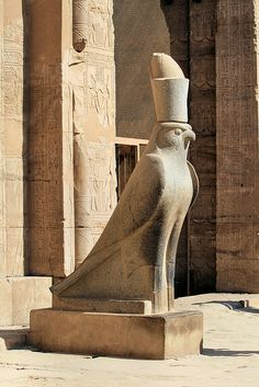 Bird sculpture, Edfu Temple