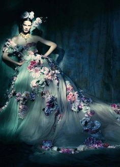 In the Couture Mood, Saskia de Brauw by Paolo Roversi / Vogue Italia March 2014