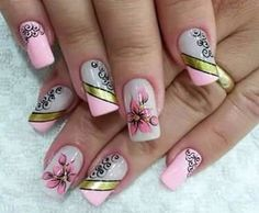 Pretty Toe Nails, Pretty Toes, Fabulous Nails, Perfect Nails, Nail Art Diy, Diy Nails, Sophisticated Nails, Birthday Nails, Nail Arts