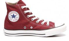 Converse All Star rood hoog maroon red