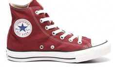 Converse All Star rood hoog maroon red