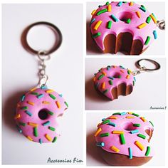 donut fimo homer http://www.artesanum.com/artesania-llavero_donut_homer-249064.html
