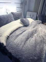 SOFO Coral Fleece Shearling Bedding Set Quilt Cover Bed Sheet Warm Mink Cashmere Cover Pillowcase is hot sale on Newchic with discounts. Quilt Bedding, Linen Bedding, Bed Linens, Comforter, Queen Bedding Sets, Beautiful Bedrooms, House Beautiful, Quilt Cover, New Room