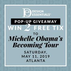 Win Beauty Makeover & 2 Free Tickets to Michelle Obama Becoming Tour in Atlanta! Free Tickets, Beauty Makeover, Online Sweepstakes, Advertising And Promotion, My Black Is Beautiful, Romantic Getaways, Men Style Tips, Michelle Obama, Crochet Fashion