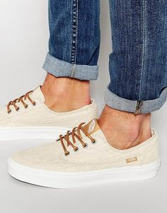 Image 1 of Vans Brigata Canvas Plimsolls In Beige VZSLIHG