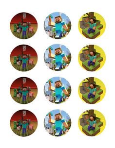 Minecraft edible cupcake images frosting sheet