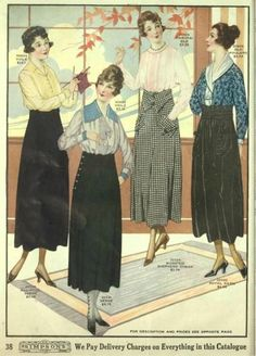 1918 Skirts and blouses. Read more about 1920s skirts.