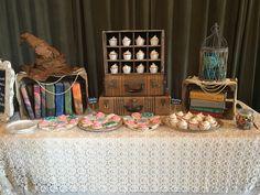 Harry Potter baby shower, baby shower dessert table, vintage baby shower, soda crate cupcake holder,
