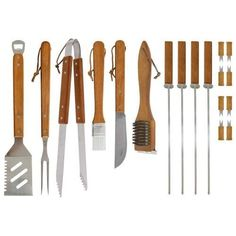 18-Piece Stainless-Steel Barbecue Tools And Accessories Cooking Utensils & Case