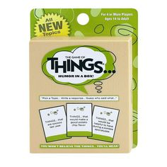 The Game of Things Travel / Expansion Deck 1 by Patch Products, Multicolor