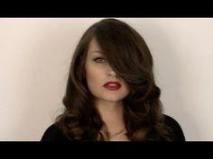 40s Veronica Lake hair and make-up tutorial