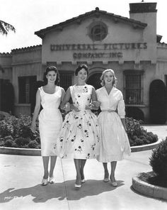 Miss Universe, Miss Germany and Miss Sweden, California, 1957.