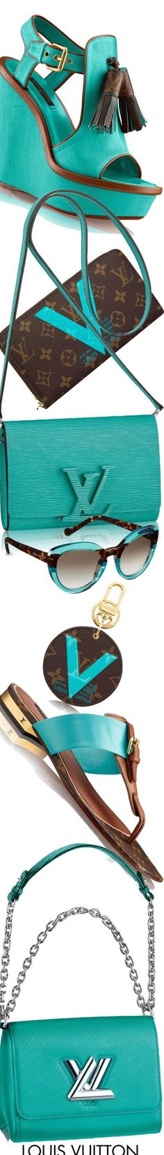 Louis Vuitton collection in turquoise and brown.
