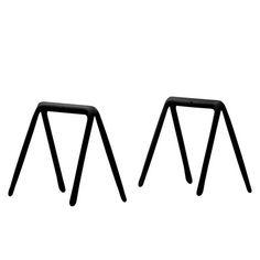 Zieta - Koza Tischböcke (2 Stück), schwarz - Einzelabbildung