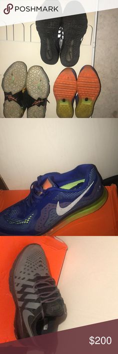 competitive price d9293 b9169 Nike shoes Colorful Nike AirMax, Black and grey air max, and LeBron 11s they