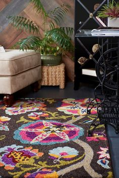Brown Casablanca Area Rug