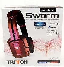 dbbf863c7df Details about NEW Mad Catz Tritton Wireless Swarm Headset Bluetooth  PS4 PS3 PC iPhone RED PINK. Gaming ...