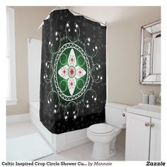 Celtic Inspired Crop Circle Shower Curtain