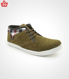 Step in #Style with ultimate pick of this season when you adorn this pair of Bacca Bucci Canvas Olive Casual Shoes