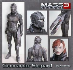 Shepard Papercraft Download by XenonRay on DeviantArt