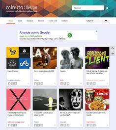 Desenvolvimento conceitual e layout para o agregador de links Minuto Design - Colaboração na criação da marca