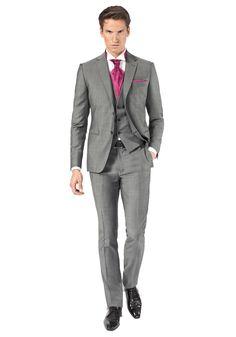 costume 3 pices gris moyen jean de sey costumes de mariage pour homme et - Costume Homme 3 Pieces Mariage
