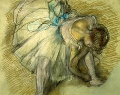 Got to see a couple of Edgar Degas originals and they were so simple and beautiful. The way he uses charcoal and pastels is amazing.