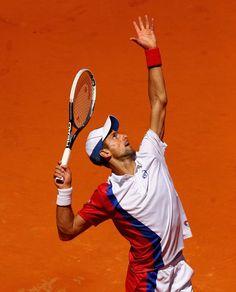 Tennis: Italian Open  Novak Djokovic defeated Juan Monaco 6, 6-2, 6-3  Novak Djokovic overcame a poor first set and a smashed racket to beat Juan Monaco 4-6, 6-2, 6-3 and reach the Italian Open quarterfinals today.  keepinitrealsports.tumblr.com  keepinitrealsports.wordpress.com
